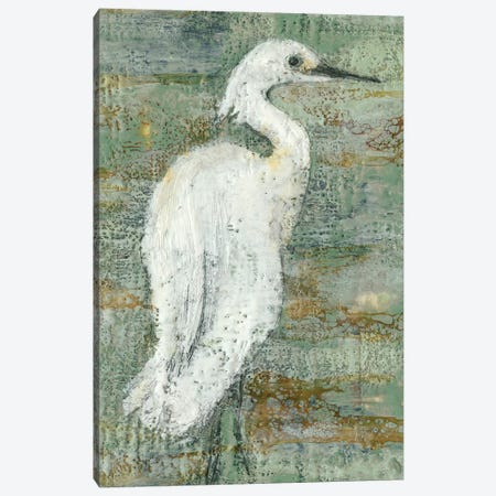 Textured Heron II Canvas Print #JGO340} by Jennifer Goldberger Canvas Artwork