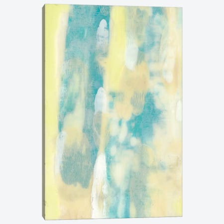 Turquoise Transparency I Canvas Print #JGO354} by Jennifer Goldberger Canvas Wall Art