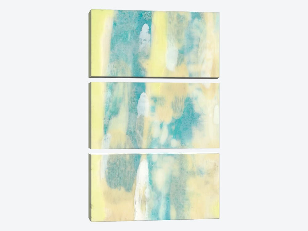 Turquoise Transparency I by Jennifer Goldberger 3-piece Art Print