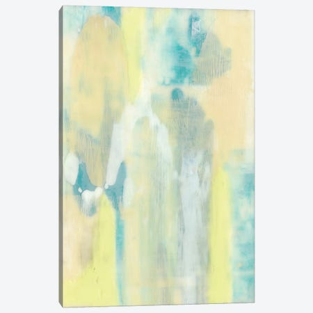 Turquoise Transparency II Canvas Print #JGO355} by Jennifer Goldberger Canvas Wall Art