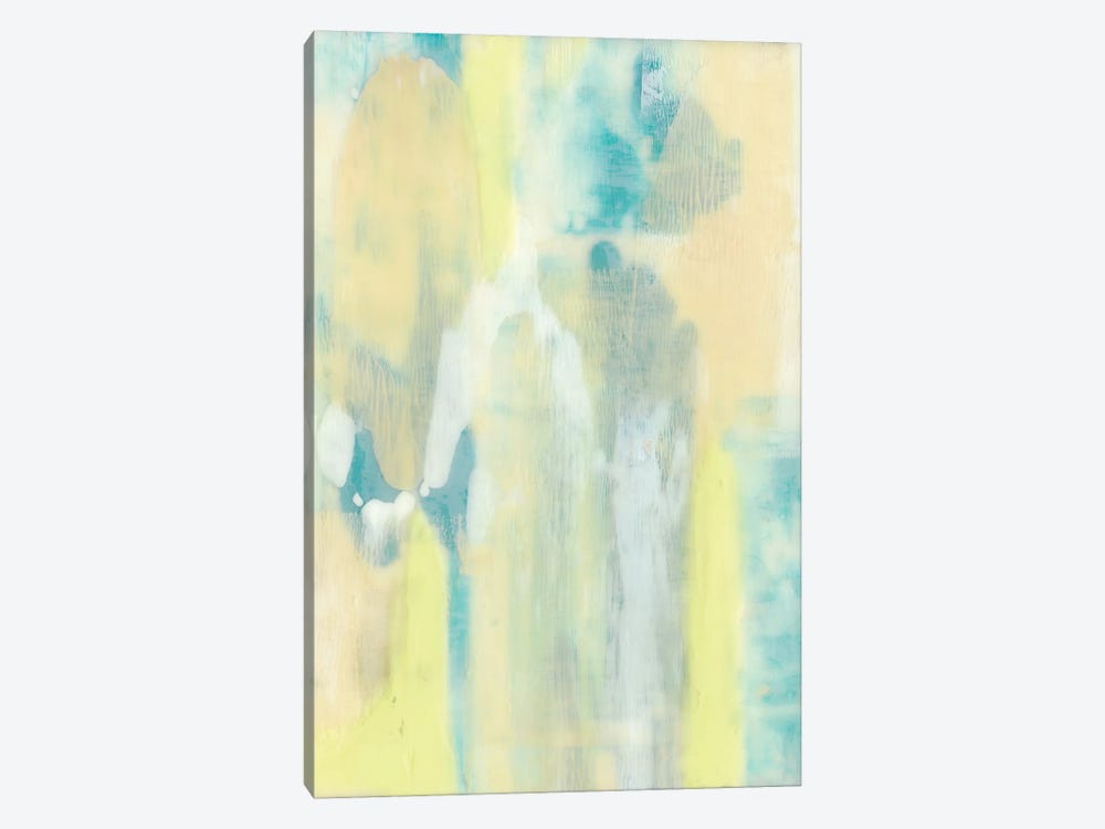 Turquoise Transparency II by Jennifer Goldberger 1-piece Canvas Art