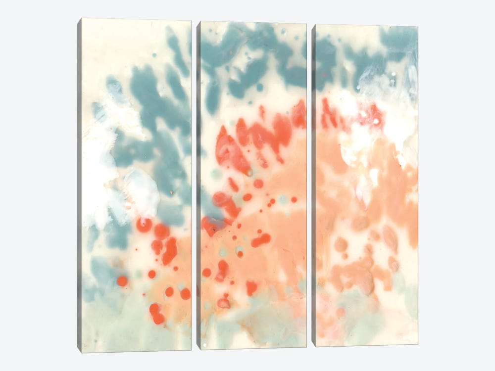 Blueberry & Coral Field I by Jennifer Goldberger 3-piece Art Print