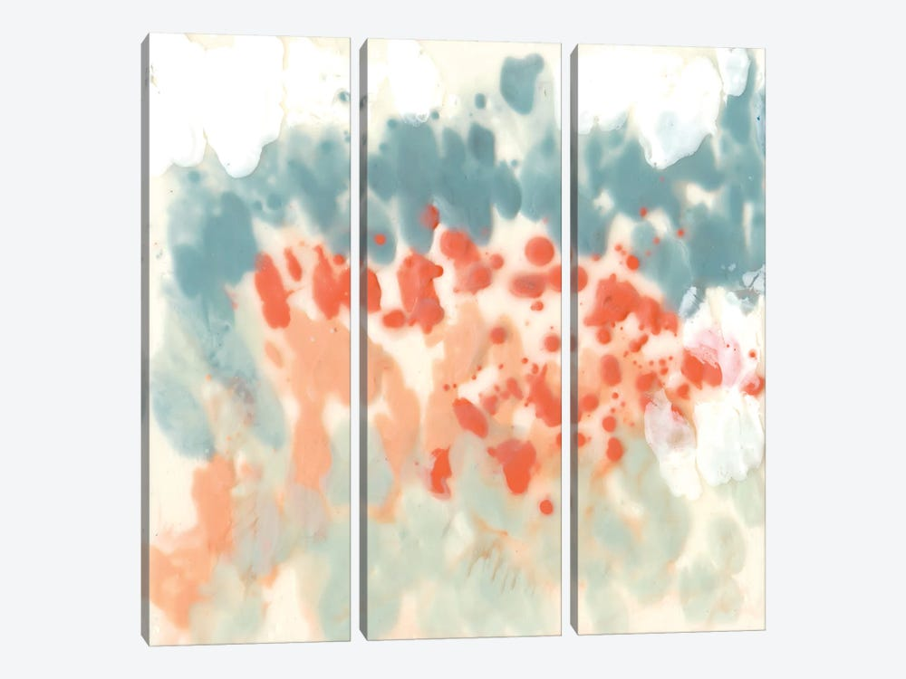 Blueberry & Coral Field II by Jennifer Goldberger 3-piece Canvas Artwork