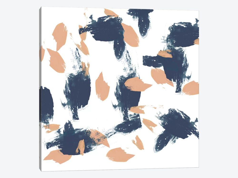 Blueberry & Peach Strokes I by Jennifer Goldberger 1-piece Canvas Artwork