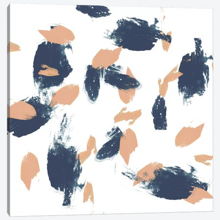 Blueberry & Peach Strokes II Canvas Print #JGO361} by Jennifer Goldberger Canvas Artwork