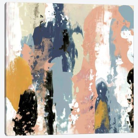 Blueberry Swatches I 3-Piece Canvas #JGO362} by Jennifer Goldberger Canvas Artwork