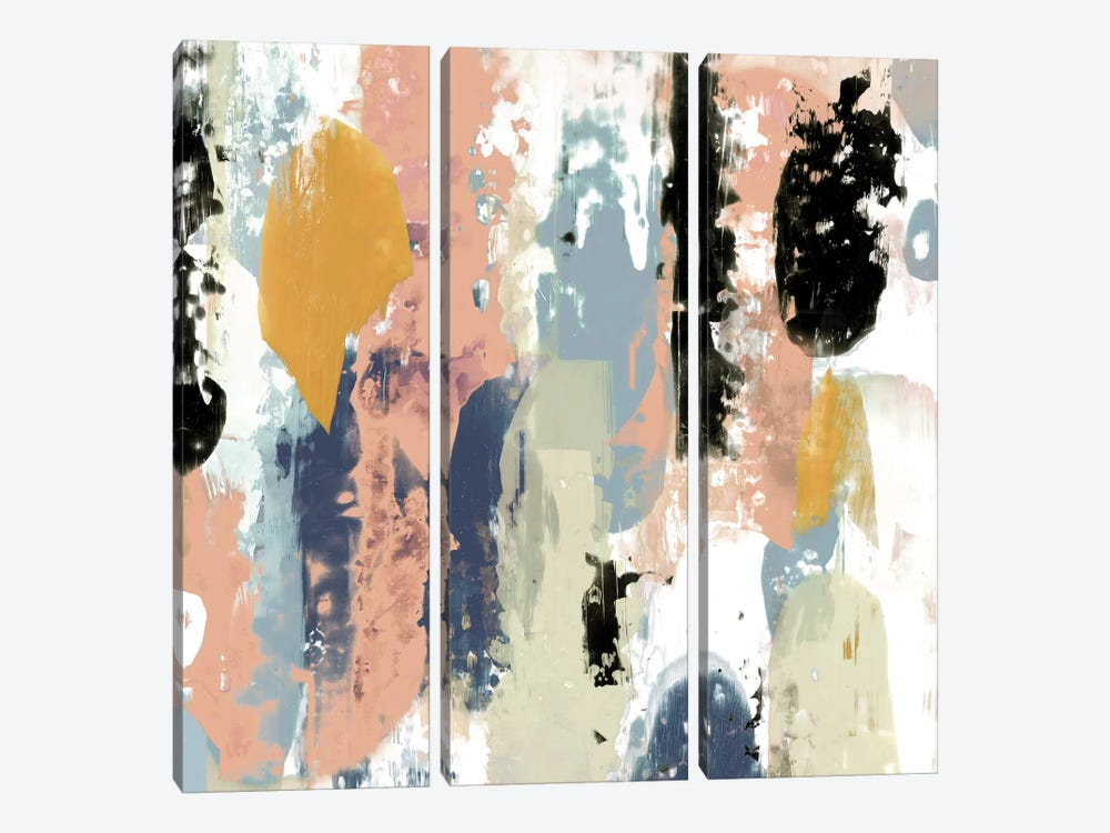 Blueberry Swatches II by Jennifer Goldberger 3-piece Art Print