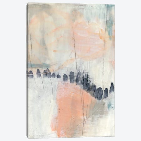 Blush & Navy I Canvas Print #JGO364} by Jennifer Goldberger Art Print