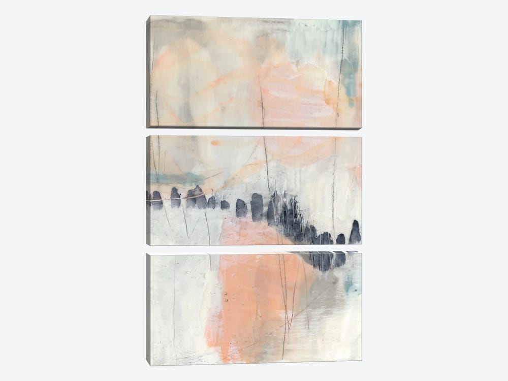 Blush & Navy I by Jennifer Goldberger 3-piece Canvas Artwork