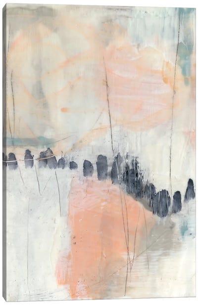 Blush & Navy I Canvas Art Print