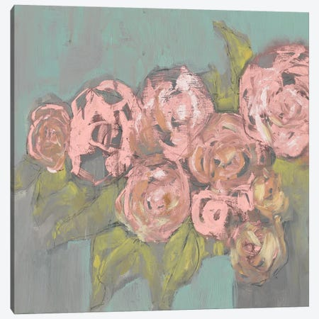 Blush Pink Flowers I Canvas Print #JGO366} by Jennifer Goldberger Art Print