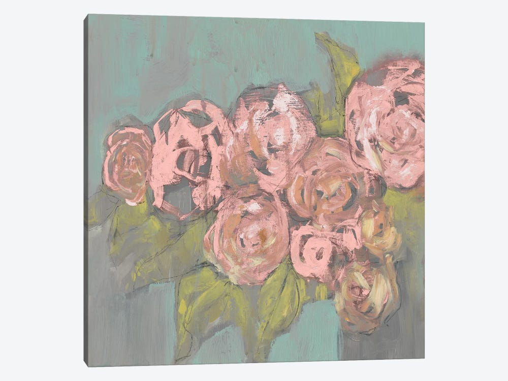 Blush Pink Flowers I 1-piece Canvas Art