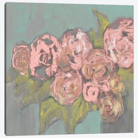 Blush Pink Flowers I Canvas Print #JGO366} by Jennifer Goldberger Art Print