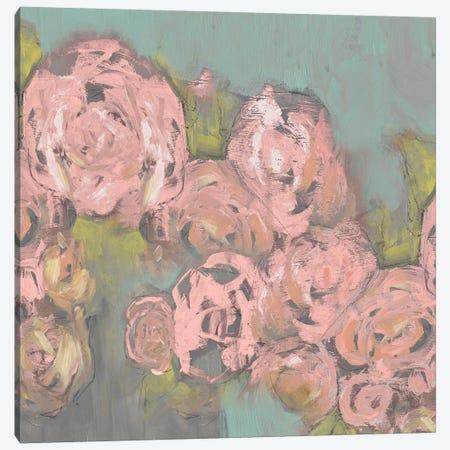 Blush Pink Flowers II Canvas Print #JGO367} by Jennifer Goldberger Art Print