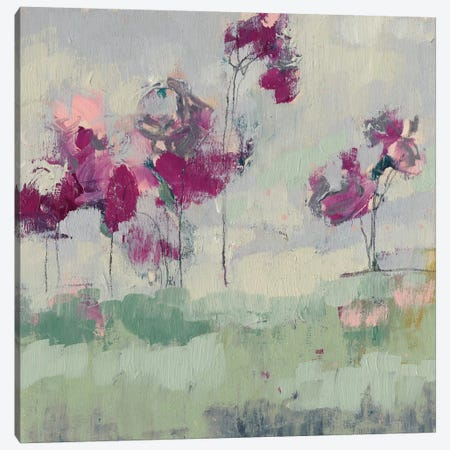 Fuchsia Treeline I Canvas Print #JGO376} by Jennifer Goldberger Canvas Wall Art