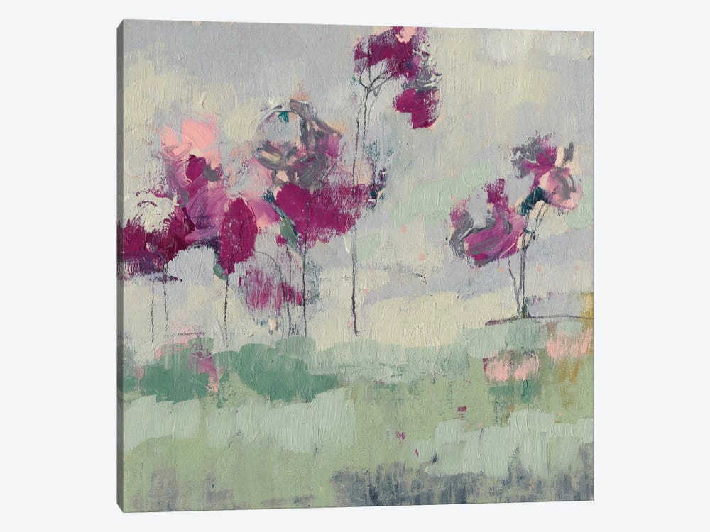 Fuchsia Treeline I by Jennifer Goldberger 1-piece Art Print
