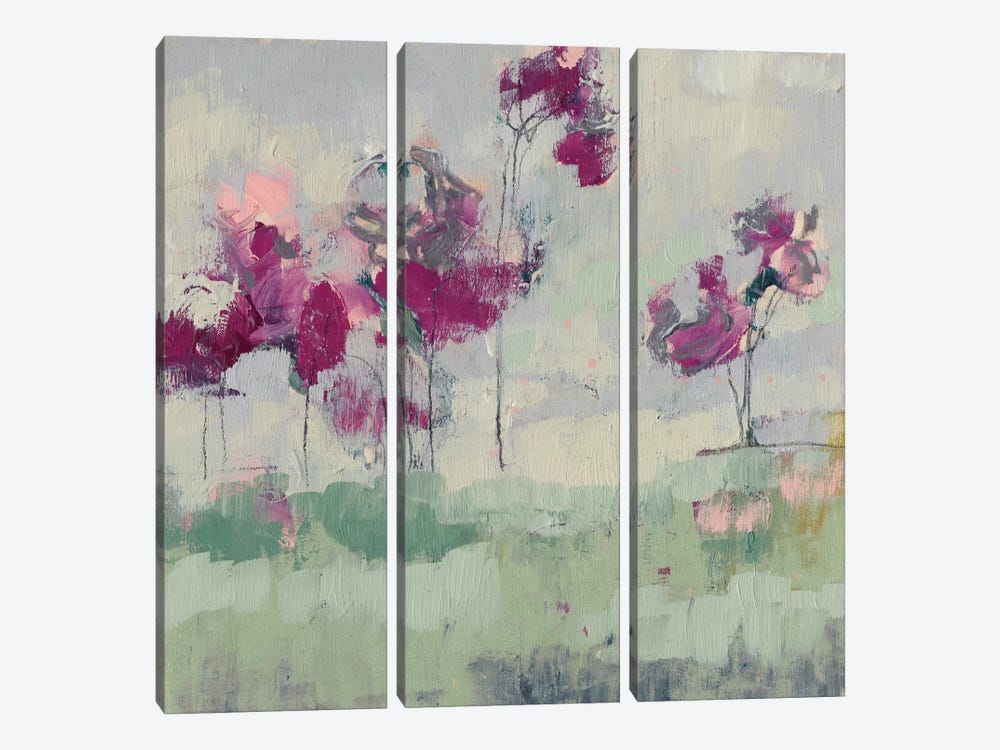 Fuchsia Treeline I by Jennifer Goldberger 3-piece Art Print