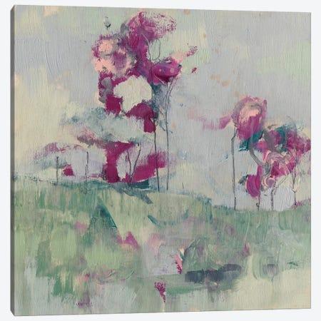 Fuchsia Treeline II Canvas Print #JGO377} by Jennifer Goldberger Canvas Wall Art
