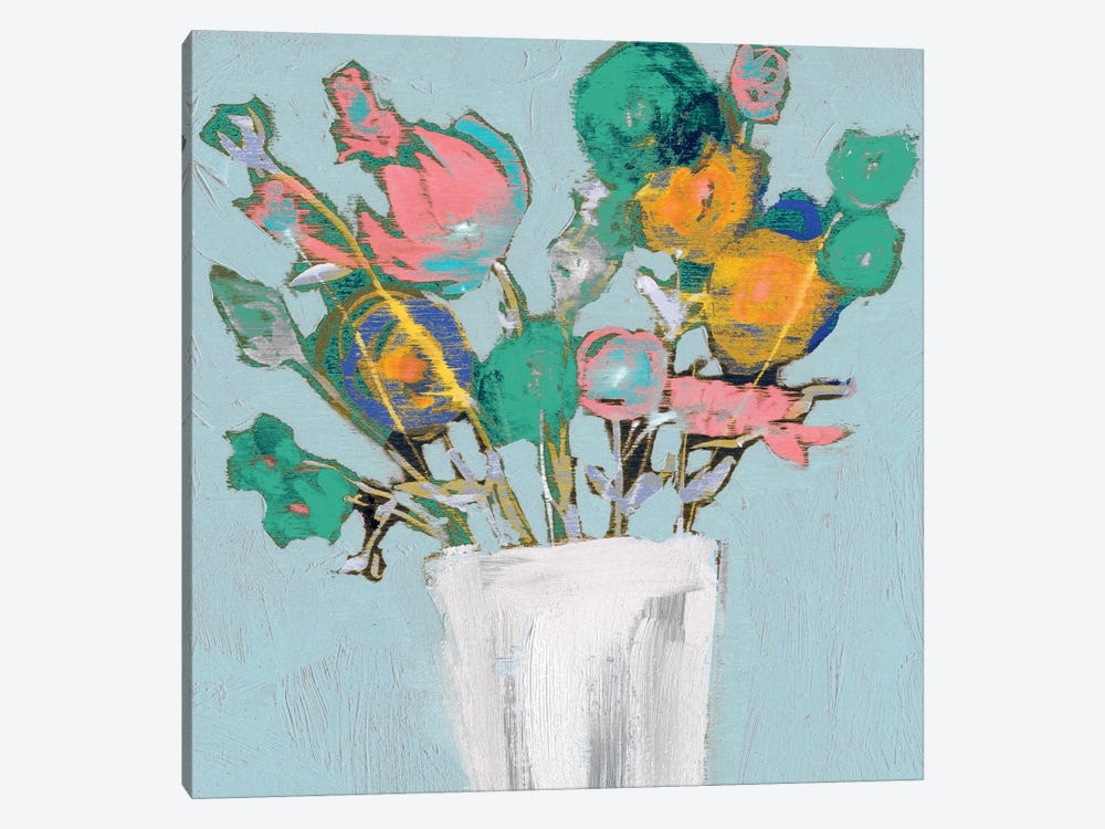 Fun Bouquet I by Jennifer Goldberger 1-piece Canvas Art Print