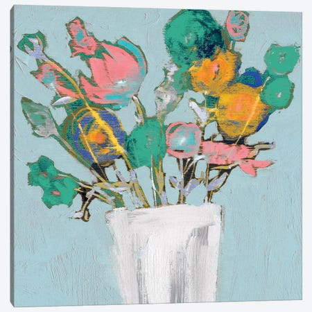 Fun Bouquet I 3-Piece Canvas #JGO378} by Jennifer Goldberger Canvas Print