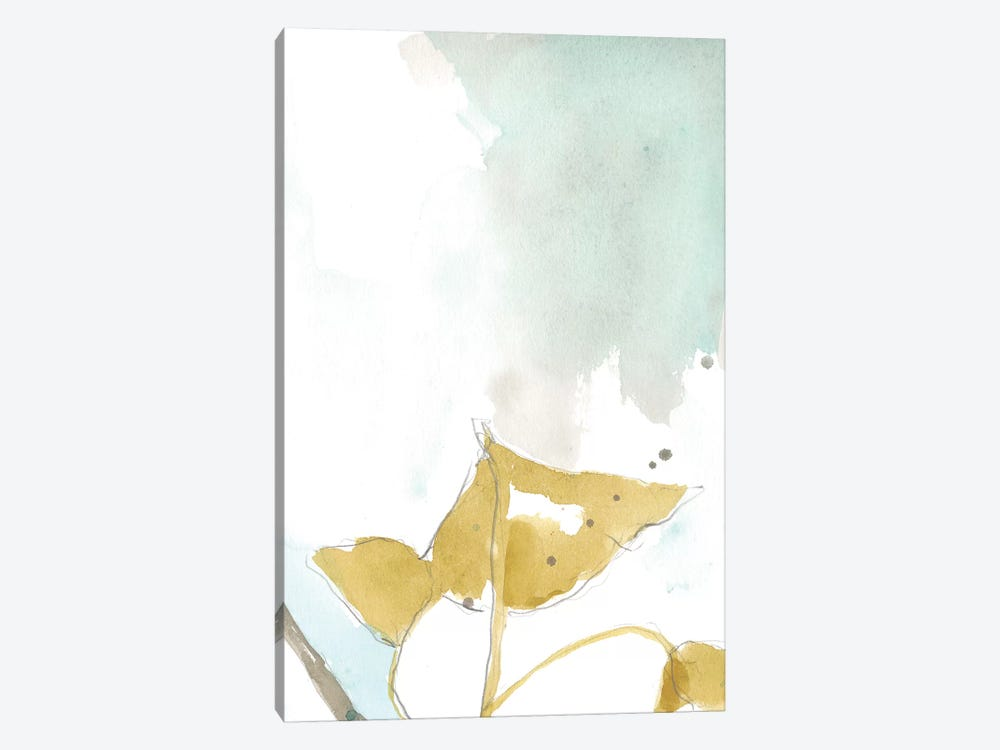 Ginkgo On Dusty Teal III by Jennifer Goldberger 1-piece Canvas Artwork
