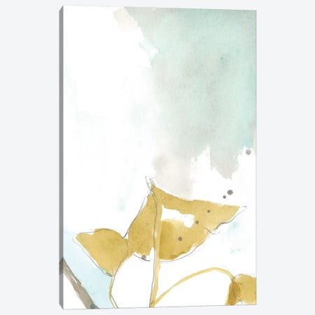 Ginkgo On Dusty Teal III Canvas Print #JGO386} by Jennifer Goldberger Art Print