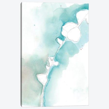 Ginkgo On Dusty Teal VII Canvas Print #JGO391} by Jennifer Goldberger Canvas Print