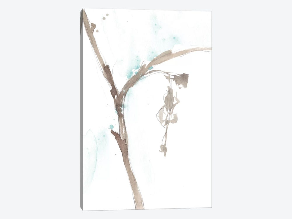 Ginkgo On Dusty Teal VIII 1-piece Canvas Art Print
