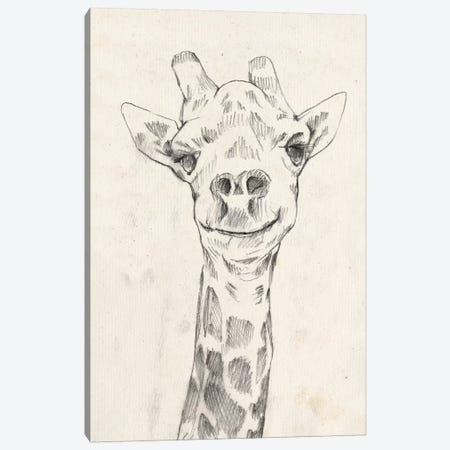 Giraffe Portrait I Canvas Print #JGO393} by Jennifer Goldberger Canvas Art Print