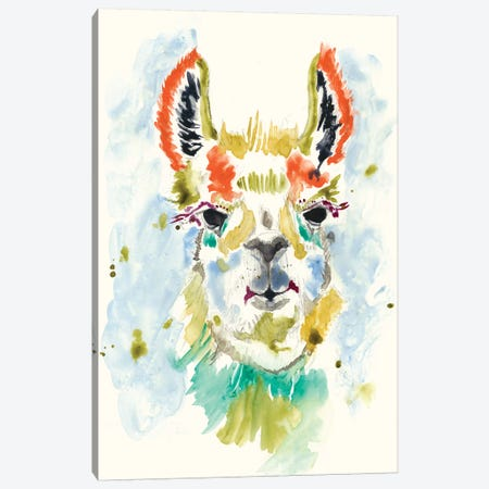 Hi-fi Llama I Canvas Print #JGO395} by Jennifer Goldberger Canvas Wall Art