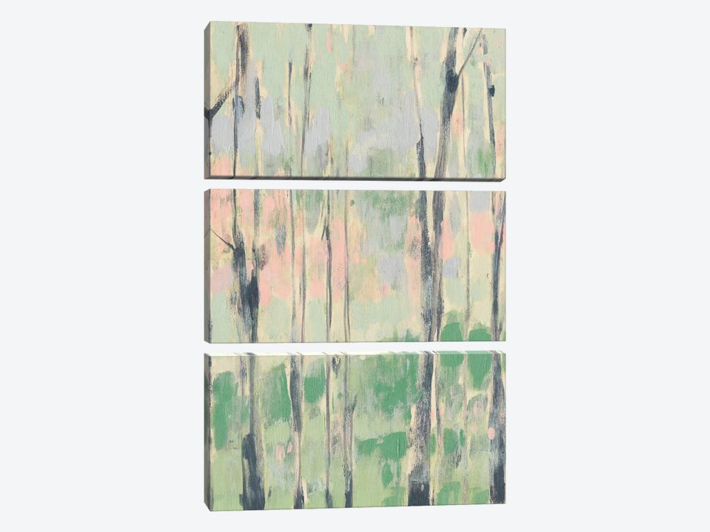 Pastels In The Trees I by Jennifer Goldberger 3-piece Art Print