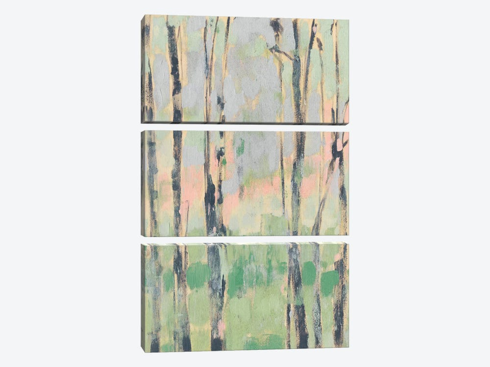 Pastels In The Trees II by Jennifer Goldberger 3-piece Canvas Wall Art