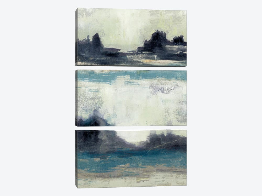 Peaceful Mountain I by Jennifer Goldberger 3-piece Art Print