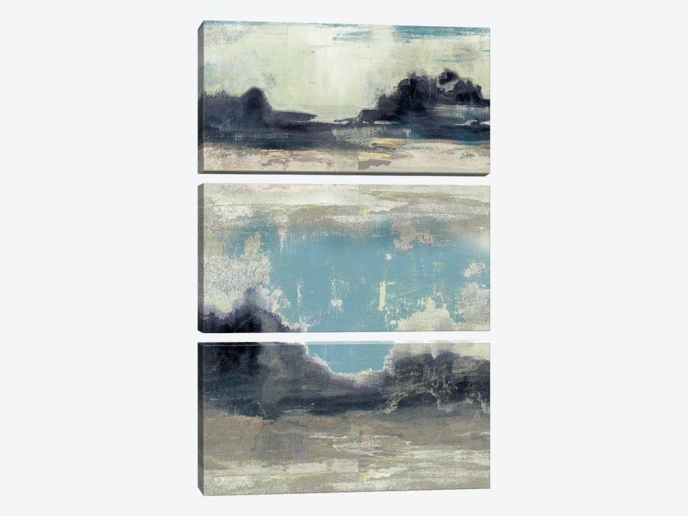 Peaceful Mountain III by Jennifer Goldberger 3-piece Art Print