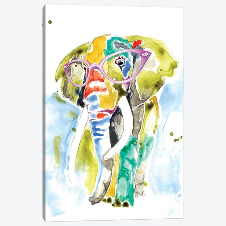 Smarty-Pants Elephant Canvas Print #JGO437} by Jennifer Goldberger Canvas Art Print