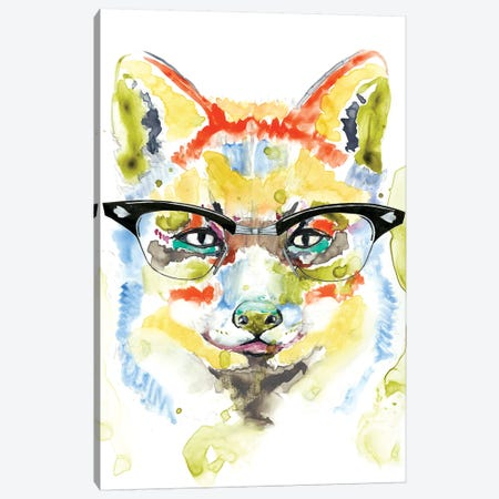 Smarty-Pants Fox Canvas Print #JGO439} by Jennifer Goldberger Canvas Artwork