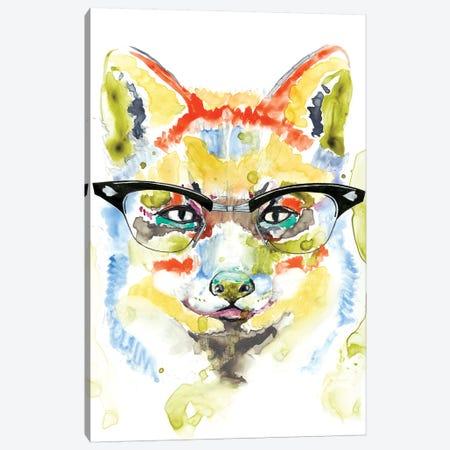 Smarty-Pants Fox Canvas Print #JGO439} by Jennifer Goldberger Canvas Artwork