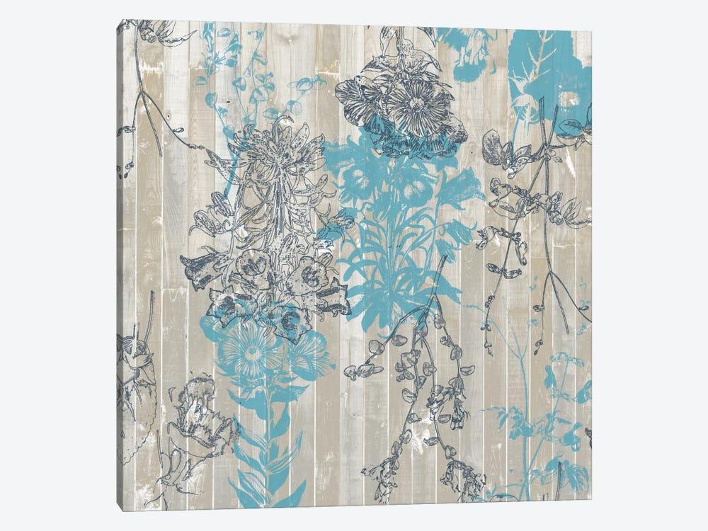Flower Pattern II by Jennifer Goldberger 1-piece Canvas Artwork