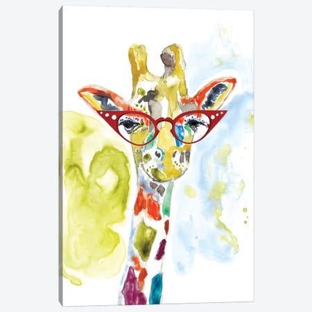 Smarty-Pants Giraffe Canvas Print #JGO440} by Jennifer Goldberger Canvas Art Print