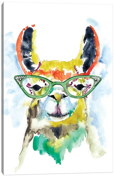 Smarty-Pants Llama Canvas Art Print