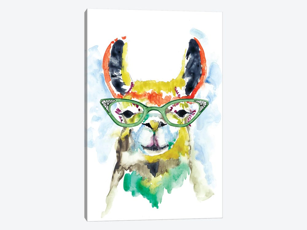 Smarty-Pants Llama by Jennifer Goldberger 1-piece Canvas Artwork