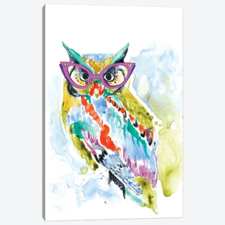 Smarty-Pants Owl Canvas Print #JGO442} by Jennifer Goldberger Canvas Art Print