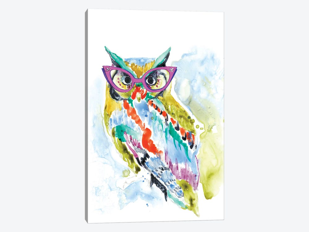 Smarty-Pants Owl by Jennifer Goldberger 1-piece Canvas Print