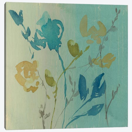 Spa & Sage Bouquet I 3-Piece Canvas #JGO443} by Jennifer Goldberger Canvas Art Print