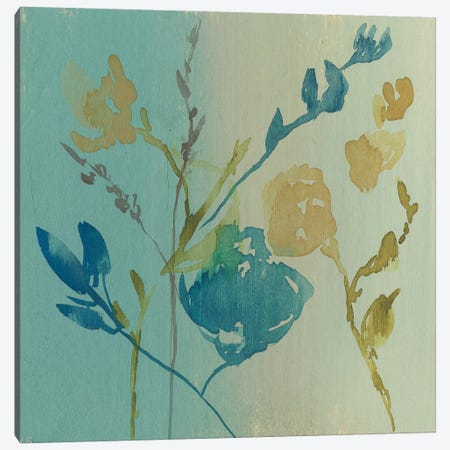 Spa & Sage Bouquet II 3-Piece Canvas #JGO444} by Jennifer Goldberger Canvas Art