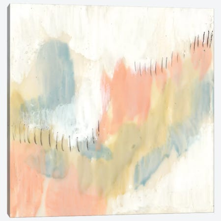 Stitched Pastels I Canvas Print #JGO445} by Jennifer Goldberger Canvas Art