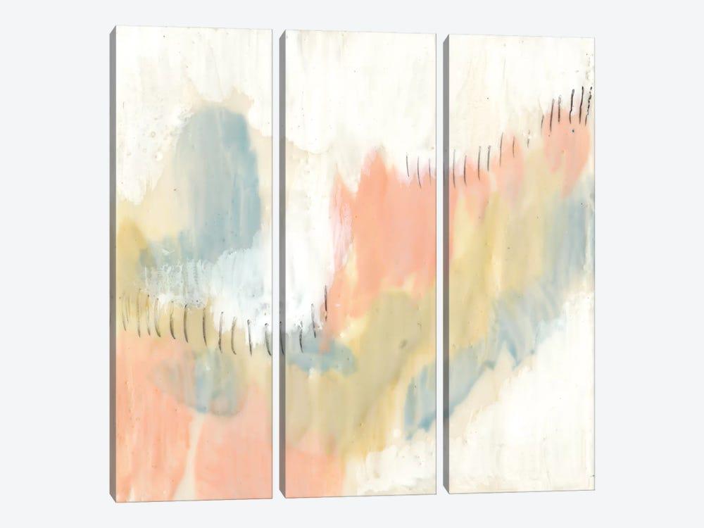 Stitched Pastels I by Jennifer Goldberger 3-piece Canvas Artwork