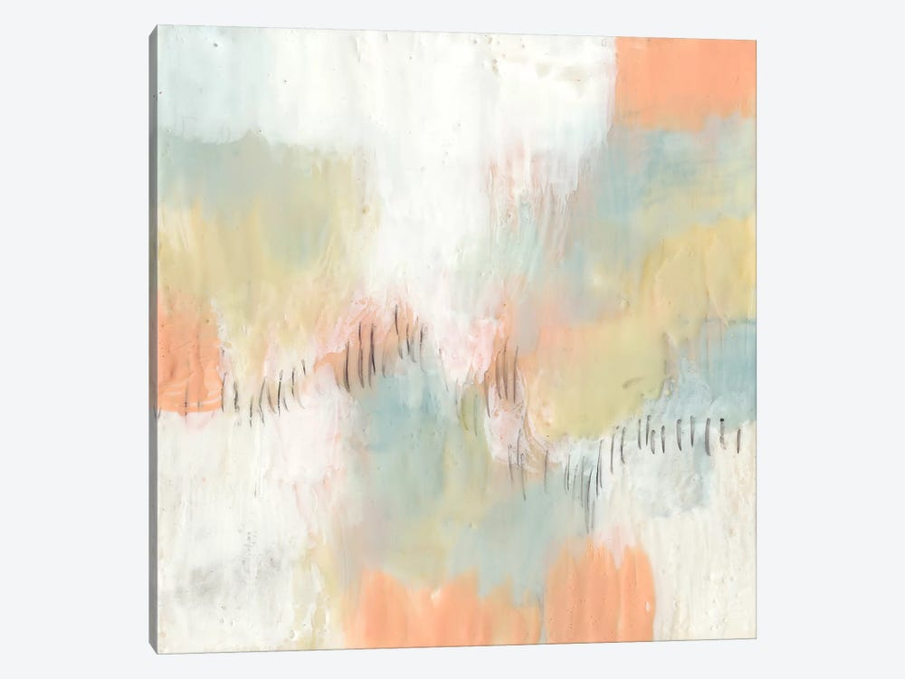 Stitched Pastels II 1-piece Canvas Print