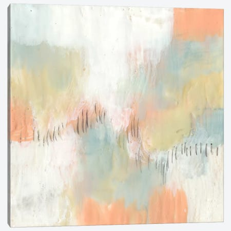 Stitched Pastels II Canvas Print #JGO446} by Jennifer Goldberger Canvas Wall Art