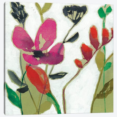 Vivid Flowers I Canvas Print #JGO457} by Jennifer Goldberger Art Print